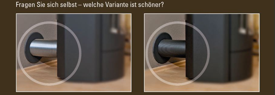 kamin aluflexrohr isoliert 5 lagig d 80mm 125mm grau schwarz lackiert 80mm. Black Bedroom Furniture Sets. Home Design Ideas