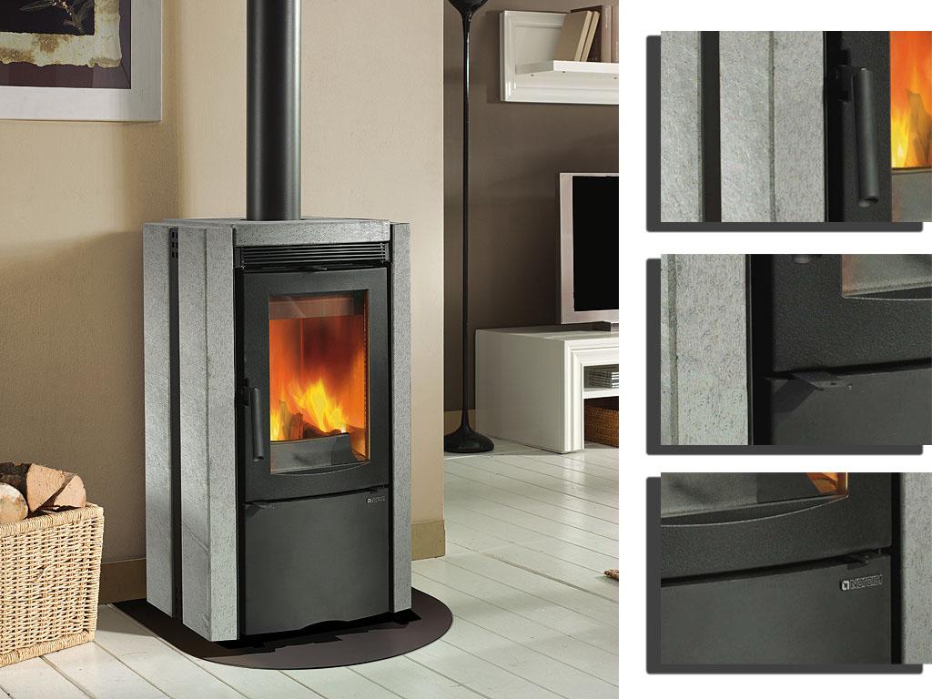 kamin ester kaminofen la nordica online kaufen. Black Bedroom Furniture Sets. Home Design Ideas