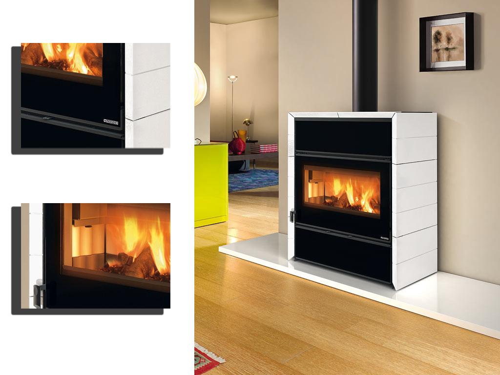 kamin fly idro wasserf hrender kaminofen la nordica schwarz online kaufen. Black Bedroom Furniture Sets. Home Design Ideas