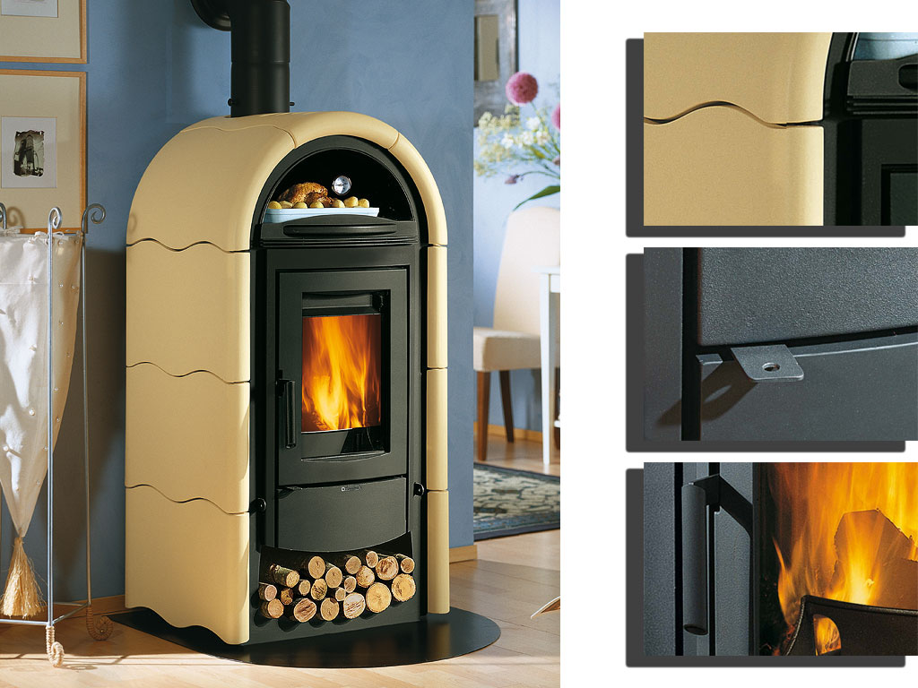 kamin stefany forno kaminofen la nordica bordeaux online kaufen. Black Bedroom Furniture Sets. Home Design Ideas