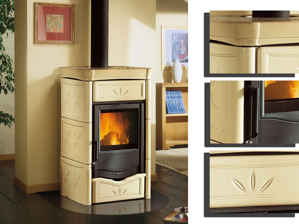 kamin termonicoletta dsa wasserf hrender kaminofen la nordica bordeaux online kaufen. Black Bedroom Furniture Sets. Home Design Ideas
