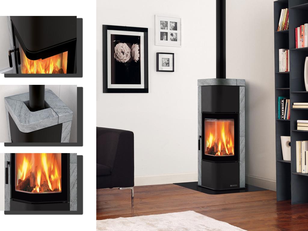 kamin zen kaminofen la nordica online kaufen. Black Bedroom Furniture Sets. Home Design Ideas