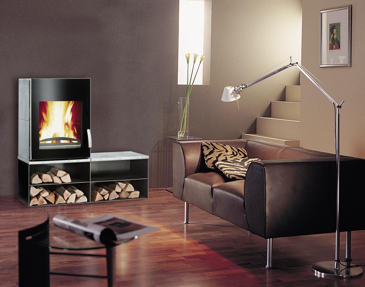 kaminofen mit bank ze08 hitoiro. Black Bedroom Furniture Sets. Home Design Ideas